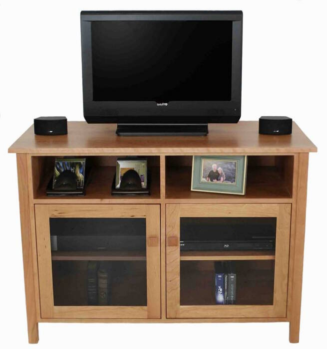Small Mission Style TV Stand Vermont Made Solid Wood