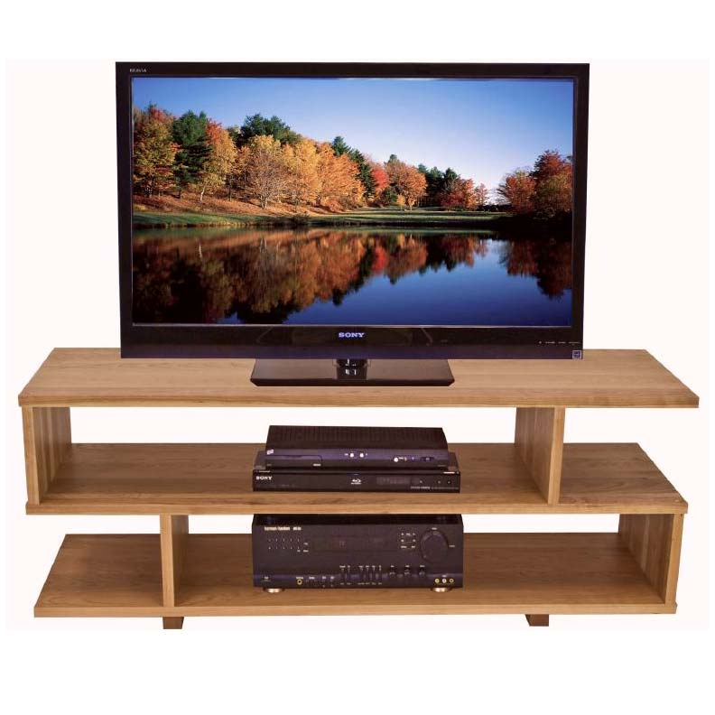 Contemporary Style TV Stand Solid Wood Home