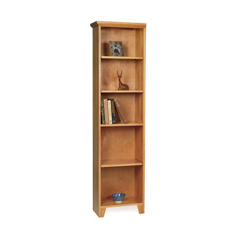 Tall Amp Narrow Solid Wood Bookcase VT Made Natural Wood