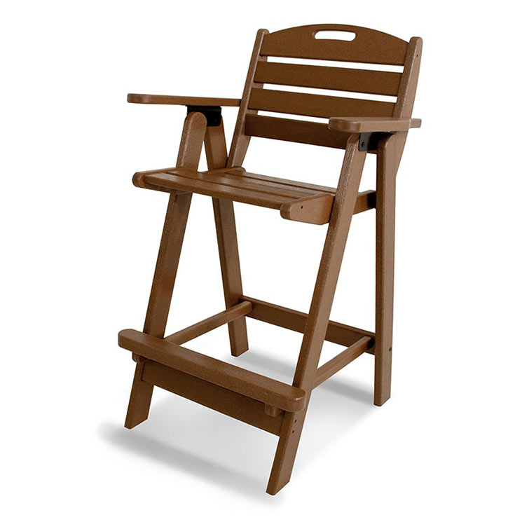 outdoor bar height chair polywood all weather patio chairs: bar height patio chair