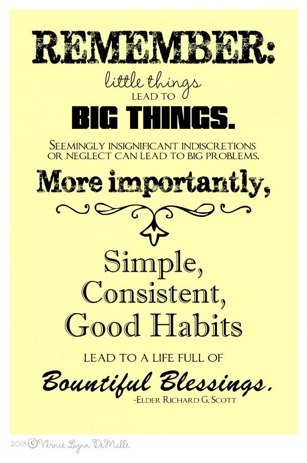 Scott-Little Things lead to Big Things