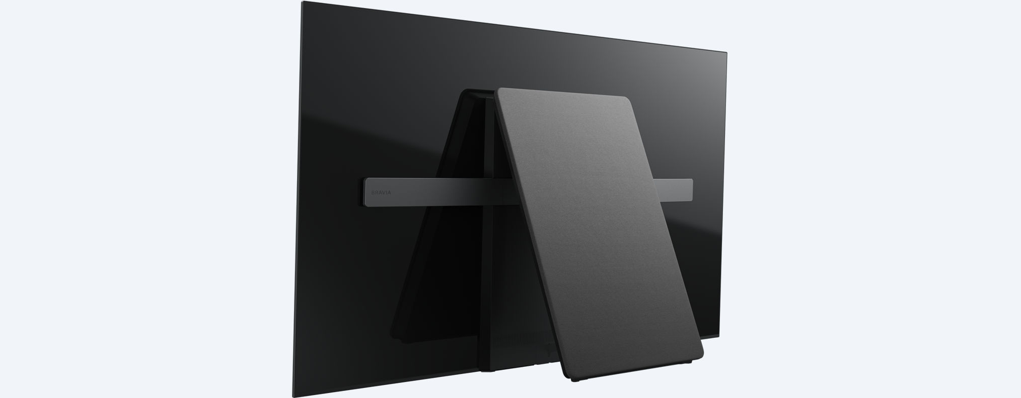 the 2017 sony bravia a1 series oled 4k hdr tv is the world s first without speakers. Black Bedroom Furniture Sets. Home Design Ideas