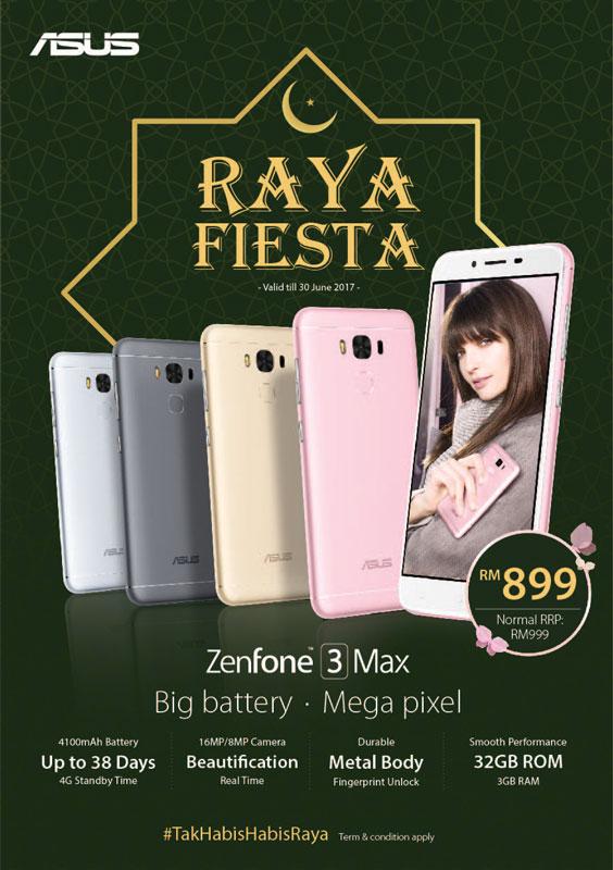 ASUS ZenFone 3 Max Hari Raya