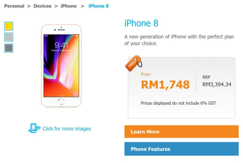 Celcom iPhone 8 pre-order