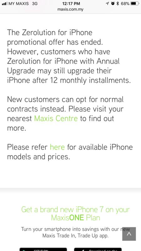 Maxis Zerolution ends