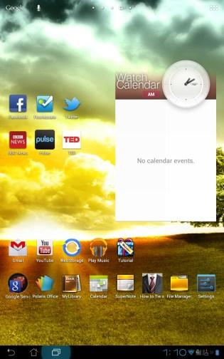 ASUS Padfone Home Screen