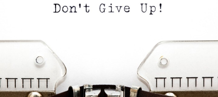 Never, Never...Never Give Up!