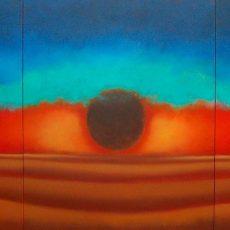 "God's Eye *Triptic  48x114"" Acrylic on canvas, 2010"