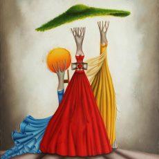 """Il Padre il Figlio e lo Spirito Santo 48x36"""" Oil on canvas, 2012  SOLD"""