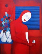"Hi Dad  40x30"" Oil on canvas, 2005"