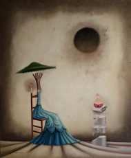 """Yo y mi Alma 48x40"""" Oil on canvas, 2011  SOLD"""