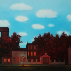 "Homage to Magritte  40x48"" Oil on canvas, 2013 SOLD"