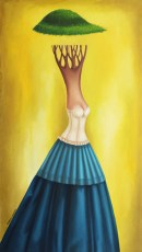 """Blueberry 31x18"""" Oil on canvas, 2014  SOLD"""