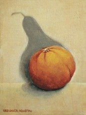 "The Orange Soul 7x5"" Acrylic on canvas, 2007  SOLD"