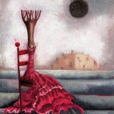 """Aspettando... 8x6"""" Oil on canvas, 2008  SOLD"""