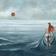 """Ocean Girl 24x36"""" acrylic on canvas, 2006  SOLD"""