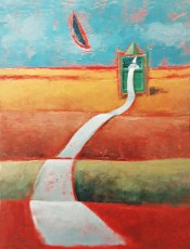 """The Long Letter #1 16x12"""" Acrylic on canvas 2002"""
