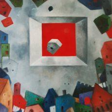"My world of memories 48x40"" Acrylic on canvas 2005"