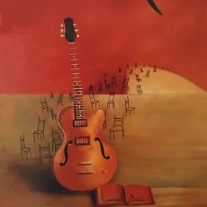 """The concert is over 20x16"""" Oil on canvas, 1999  SOLD"""