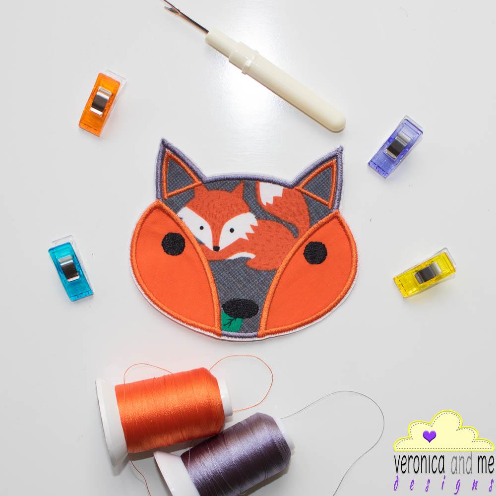 fox orange custom embroidery bridge the gap project heart speak piece embroidery design