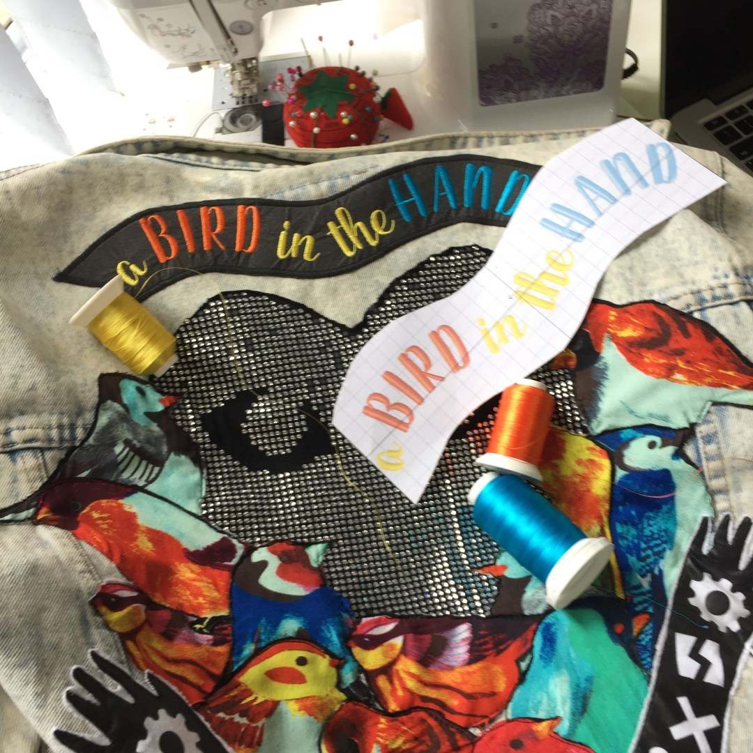 a bird in the hand customised jacket heart speak bridge the gap project