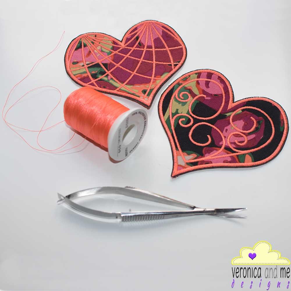 heart orange custom embroidery bridge the gap project heart speak piece