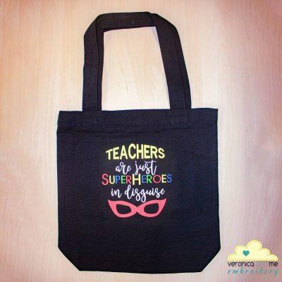 Teachers are Superheroes Tote