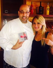 Veronica enjoys dinner at Calderone Club in Milwaukee and meets owner Gino Fazzari.