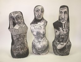 tribe approx.60 cm sgraffito vessels