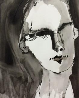 self 0010 indian ink 40 x 30 cm