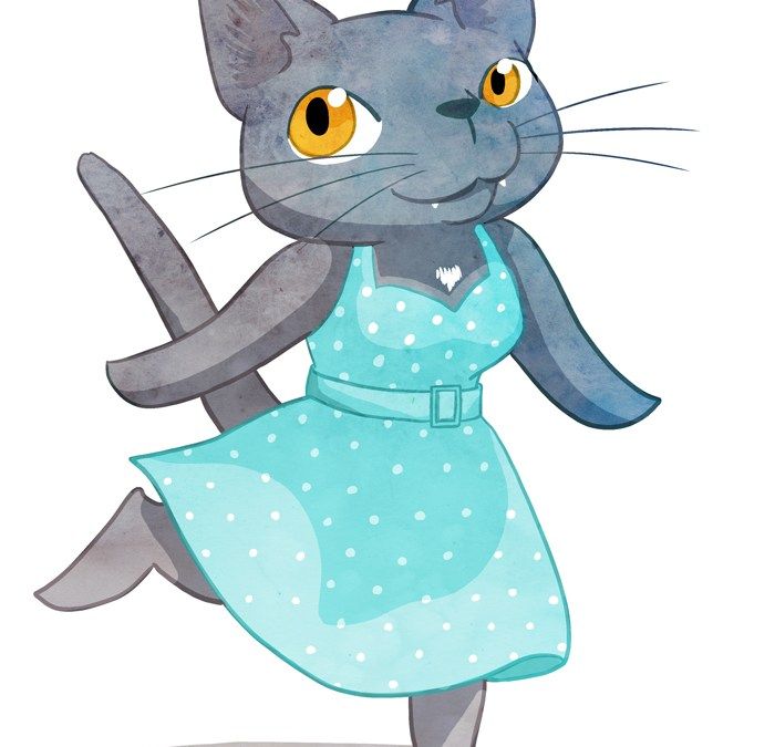 Draw Your Cat in a Dress Day
