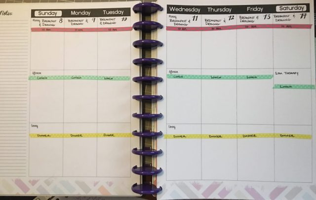 My planner spread, all laid out and pristine