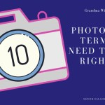 Ad image with a camera and ten photography terms title
