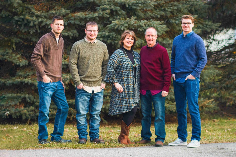 Coordinated outfits for family portraits