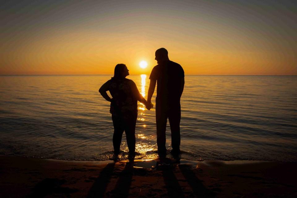 Portrait-Photographer-Holland-Michigan-Couple by Sunset