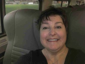 Selfie on Amtrak from Holland to Chicago