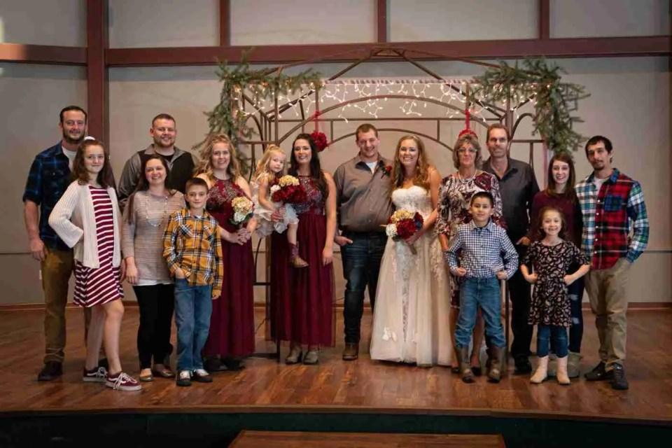 Wedding Photo with large group