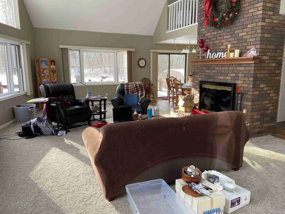 View of inside author's living room