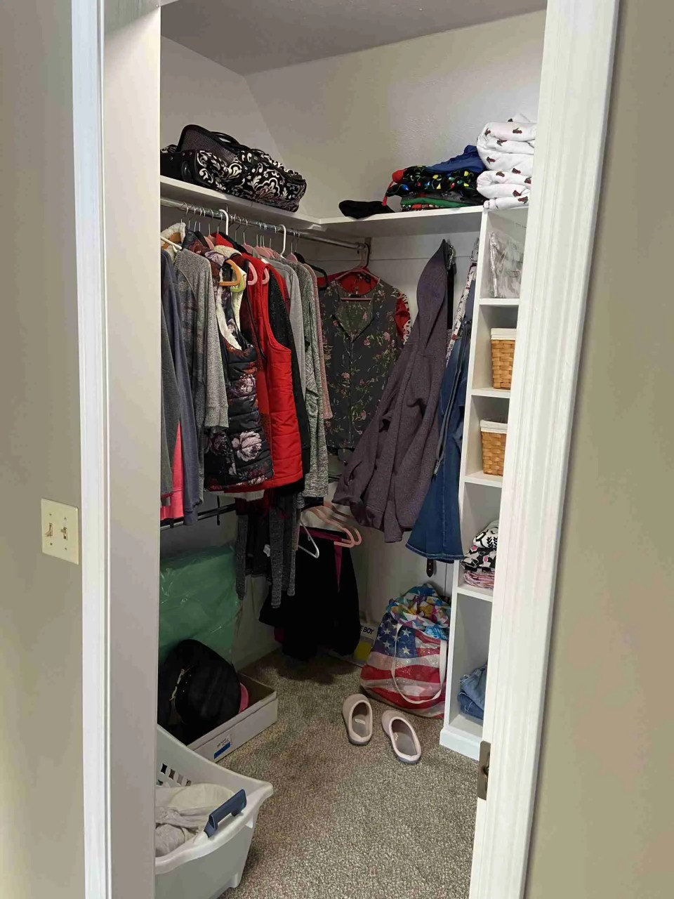 Picture of master closet
