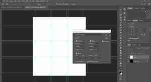 Photoshop screenshot showing how to enter measurements for guidelines