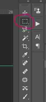 Photoshop screenshot showing the marquee tool