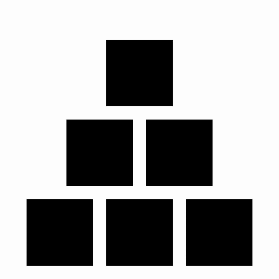 6 box pyramid shaped box photography template