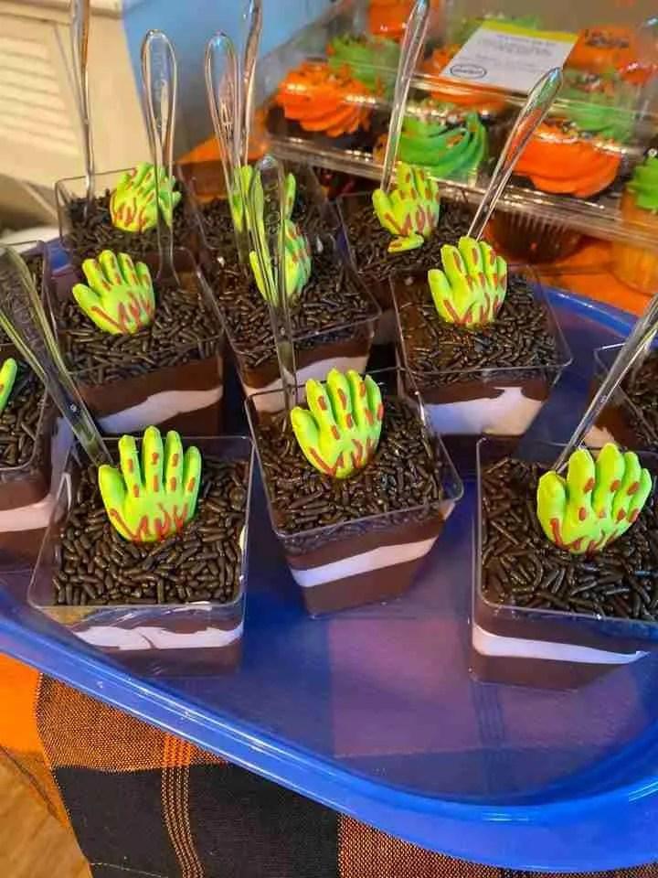 Halloween Food Ideas - Pudding Graves