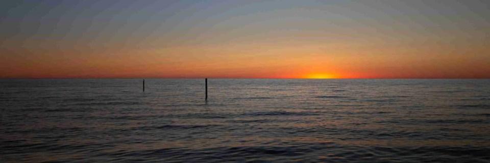 Sunset at over Lake Michigan