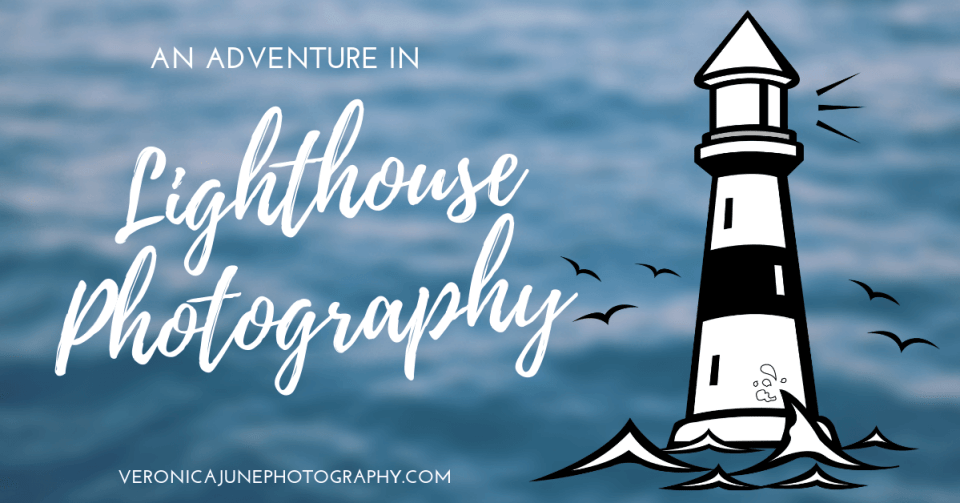 Ad image for Lighthouse Photography showing a lighthouse drawing on a background of water