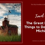 PIN image for Things to do in Holland Michigan showing Big Red Lighthouse