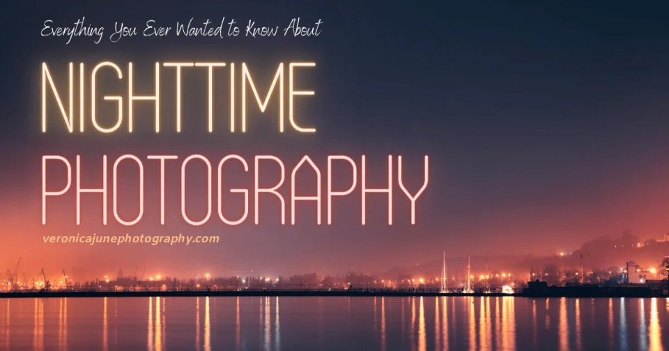 AD image for nighttime photography showing a skyline over water