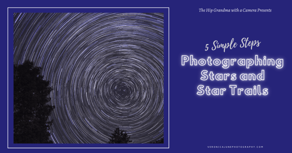 AD Image for Star Trails Post showing circular star trails at night