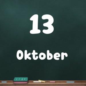 13 oktober
