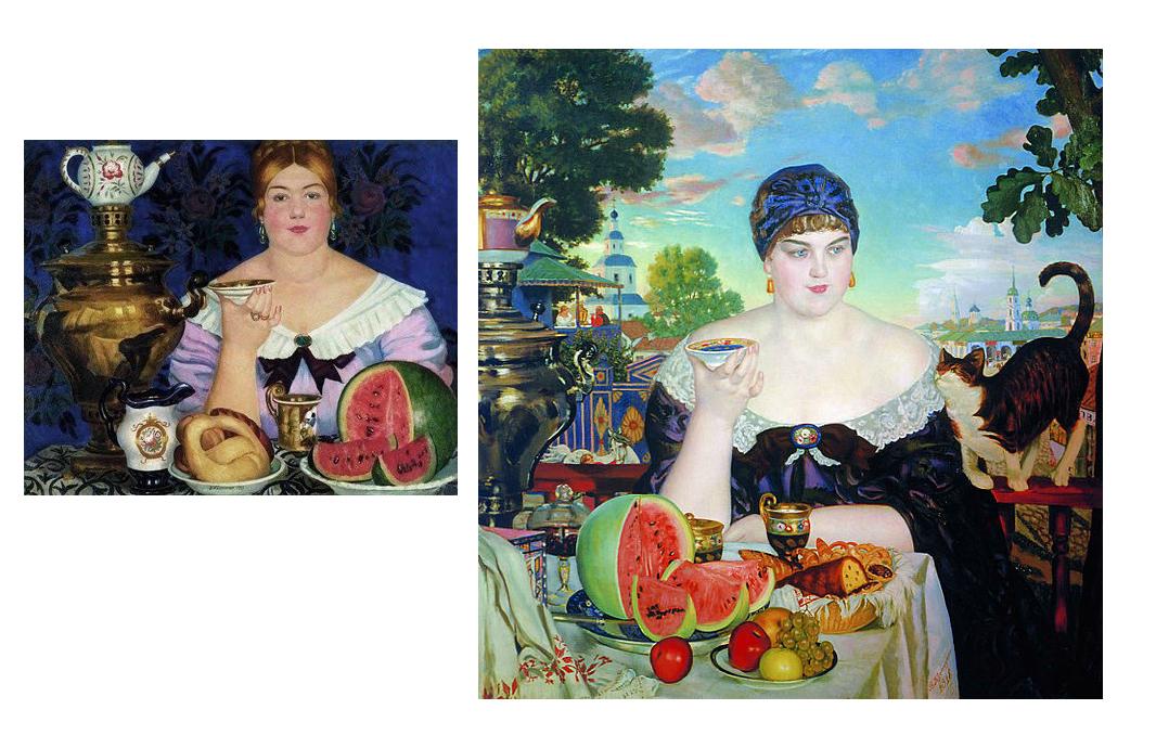 Kustodiev paintings